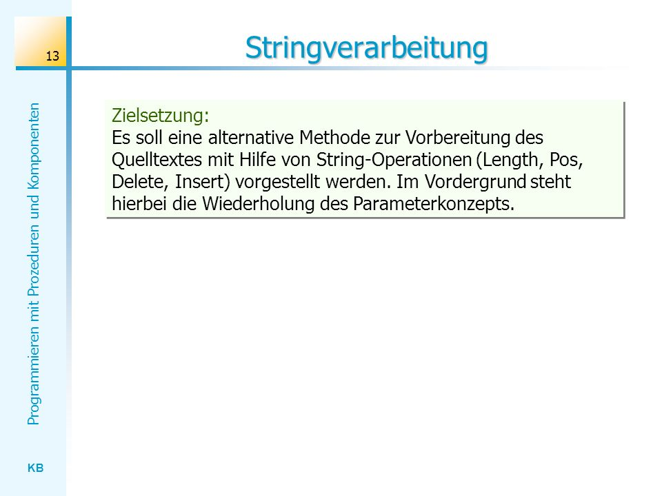 Stringverarbeitung
