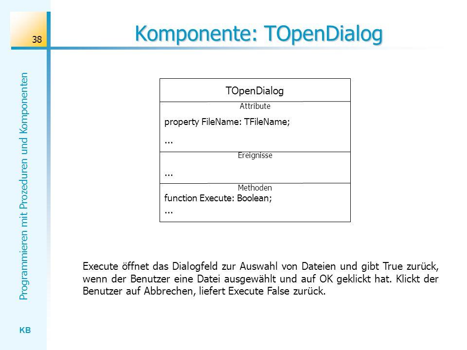 Komponente: TOpenDialog