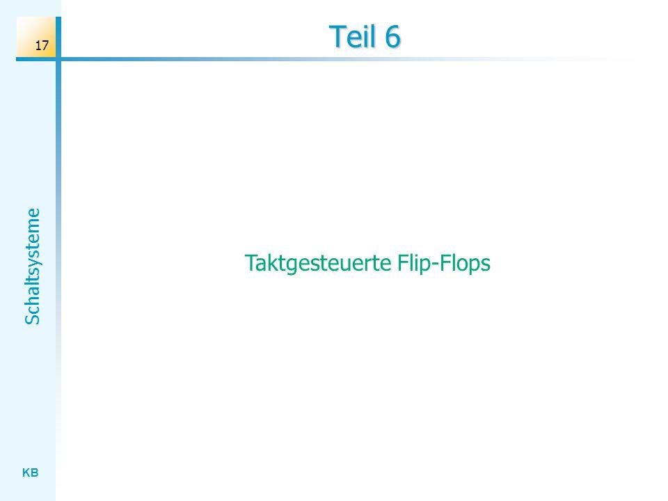Taktgesteuerte Flip-Flops