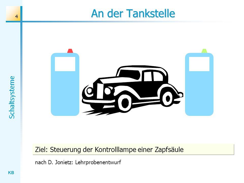 An der Tankstelle Ziel: Steuerung der Kontrolllampe einer Zapfsäule