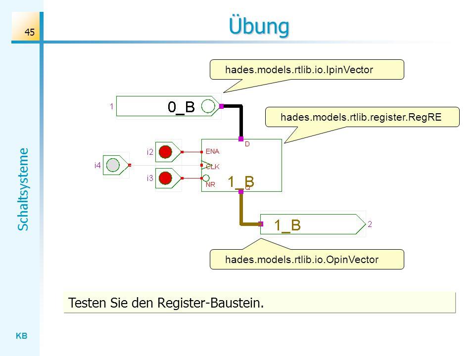 Übung Testen Sie den Register-Baustein.