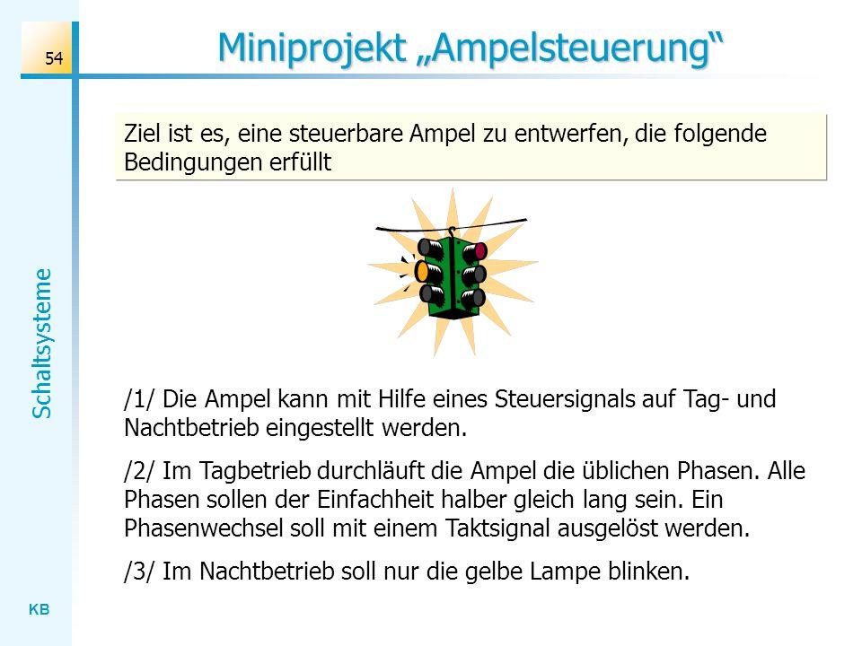 """Miniprojekt """"Ampelsteuerung"""