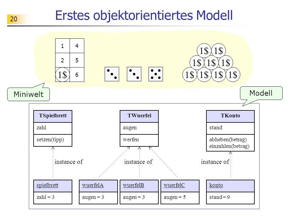 Erstes objektorientiertes Modell
