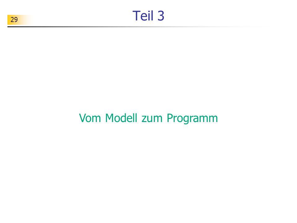 Vom Modell zum Programm