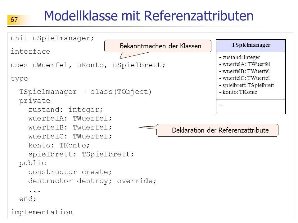 Modellklasse mit Referenzattributen