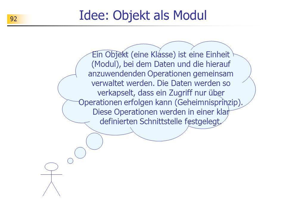 Idee: Objekt als Modul