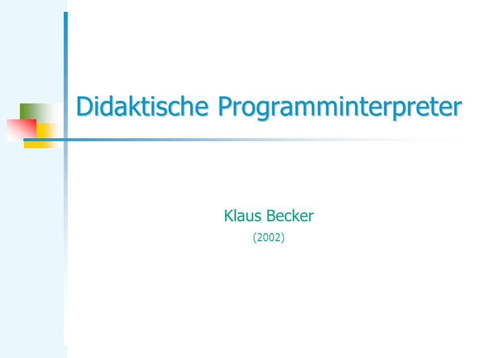 Didaktische Programminterpreter