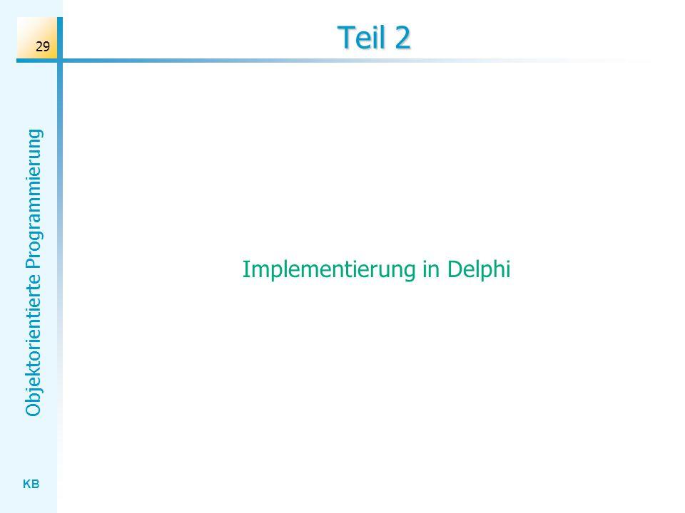 Implementierung in Delphi