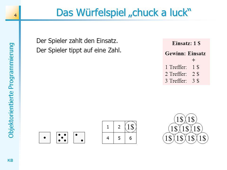 "Das Würfelspiel ""chuck a luck"