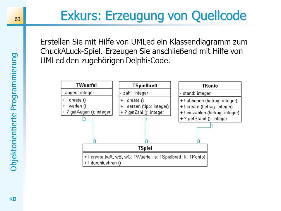Exkurs: Erzeugung von Quellcode