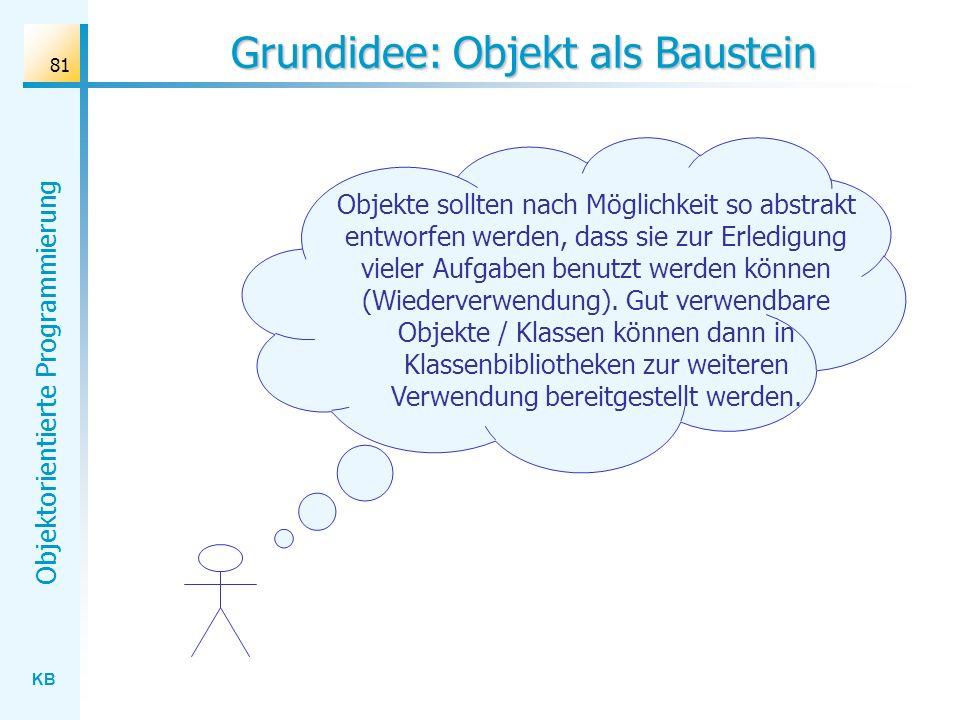 Grundidee: Objekt als Baustein