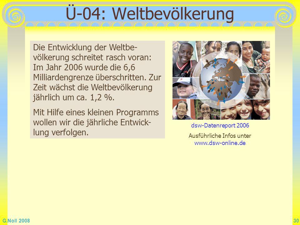 Ausführliche Infos unter www.dsw-online.de