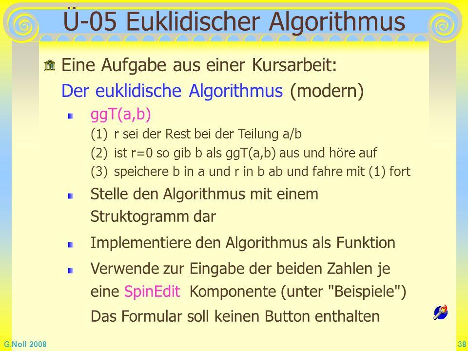 Ü-05 Euklidischer Algorithmus