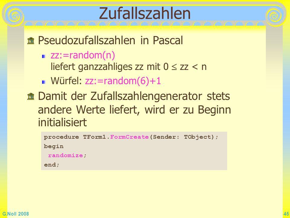 Zufallszahlen Pseudozufallszahlen in Pascal