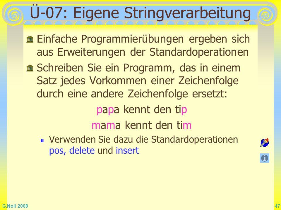 Ü-07: Eigene Stringverarbeitung