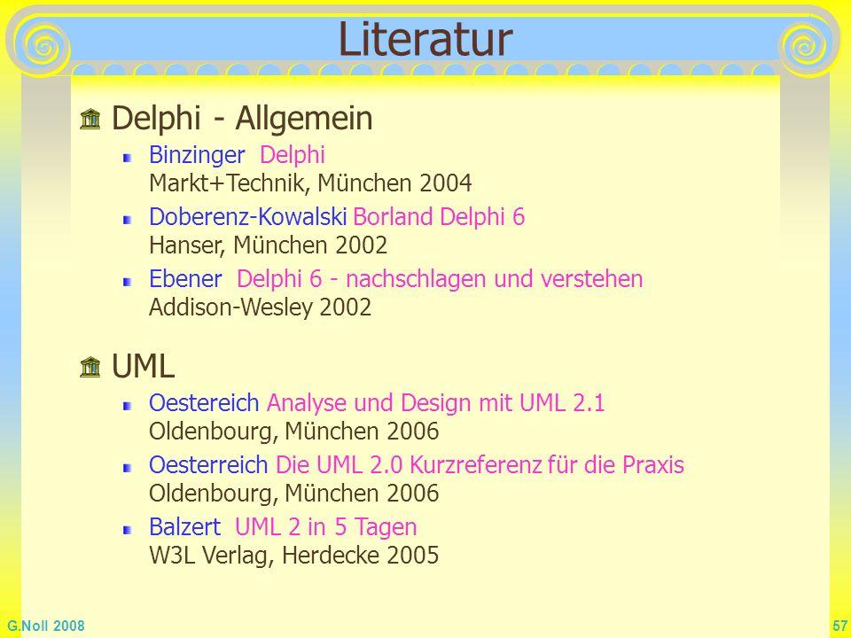 Literatur Delphi - Allgemein UML