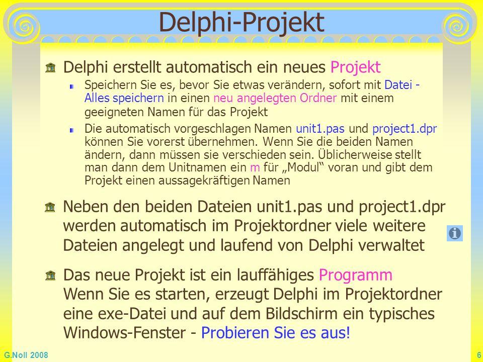 Delphi-Projekt Delphi erstellt automatisch ein neues Projekt