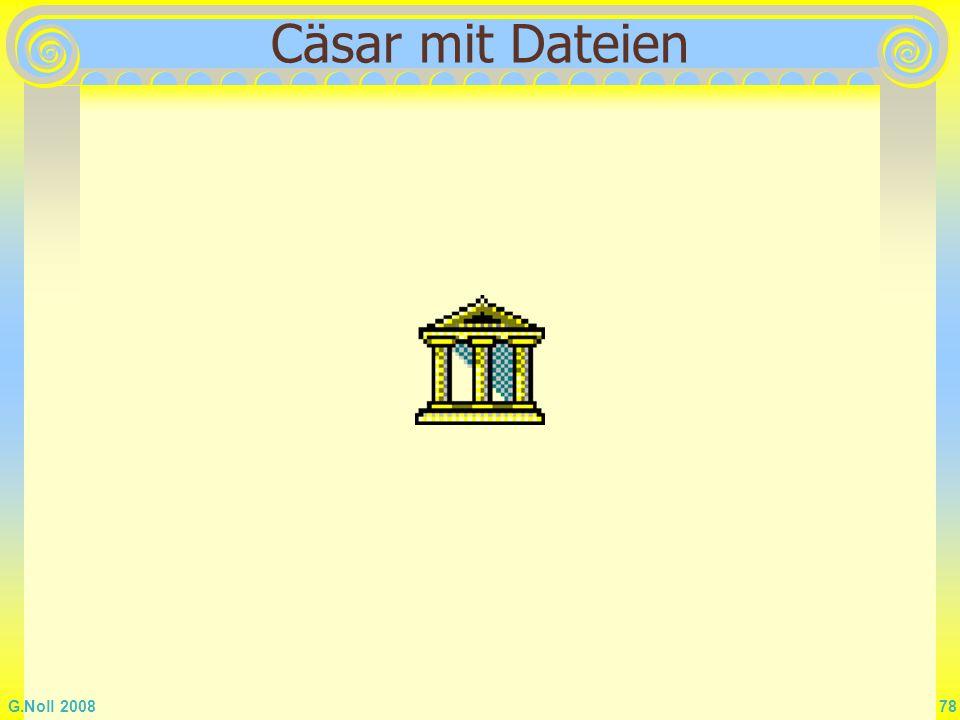 Cäsar mit Dateien
