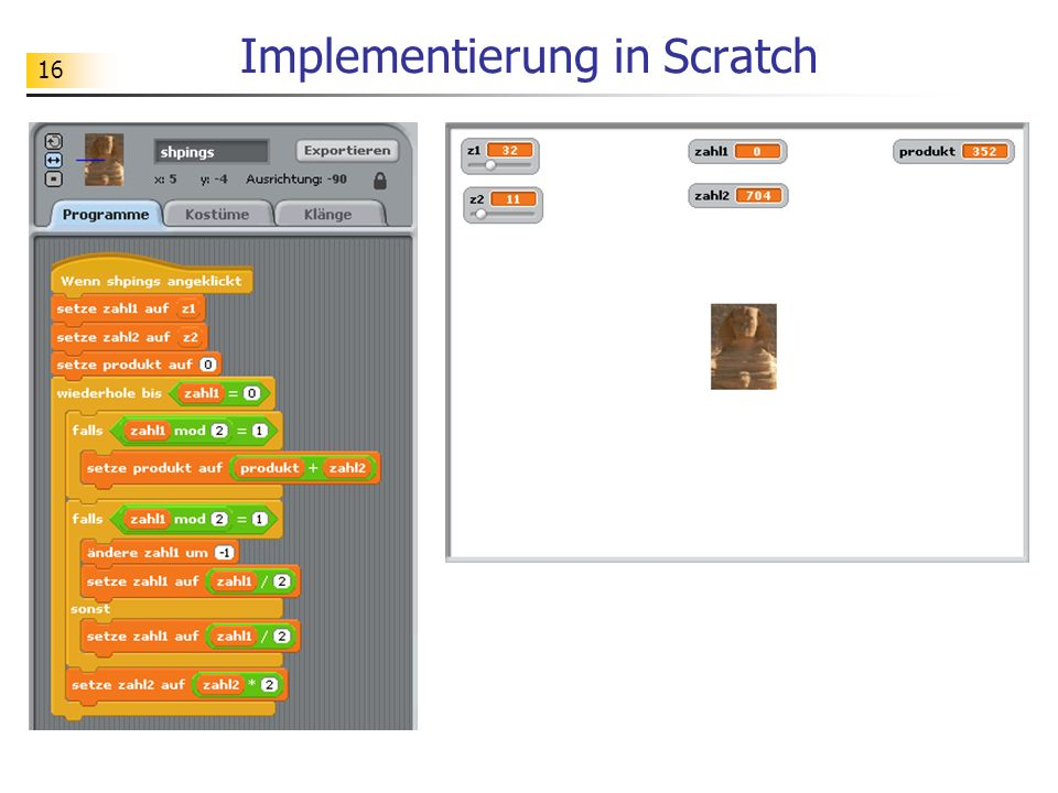 Implementierung in Scratch