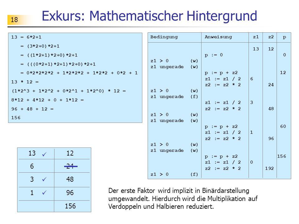 Exkurs: Mathematischer Hintergrund