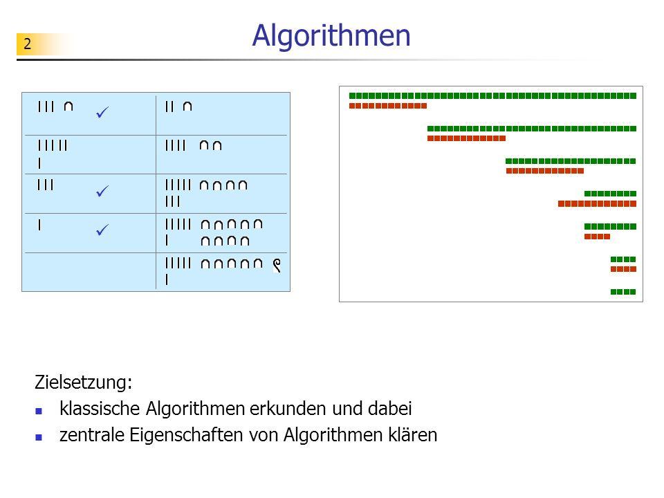 Algorithmen    Zielsetzung: