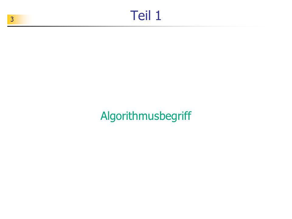 Teil 1 Algorithmusbegriff