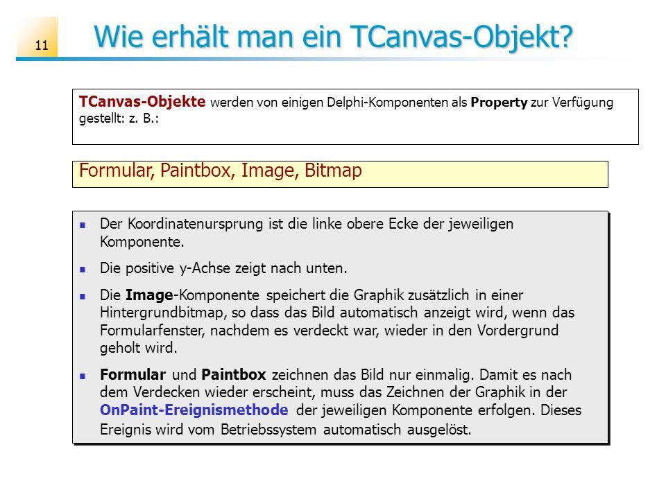 Wie erhält man ein TCanvas-Objekt