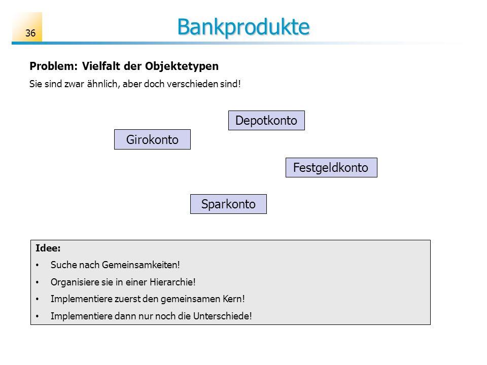 Bankprodukte Depotkonto Girokonto Festgeldkonto Sparkonto