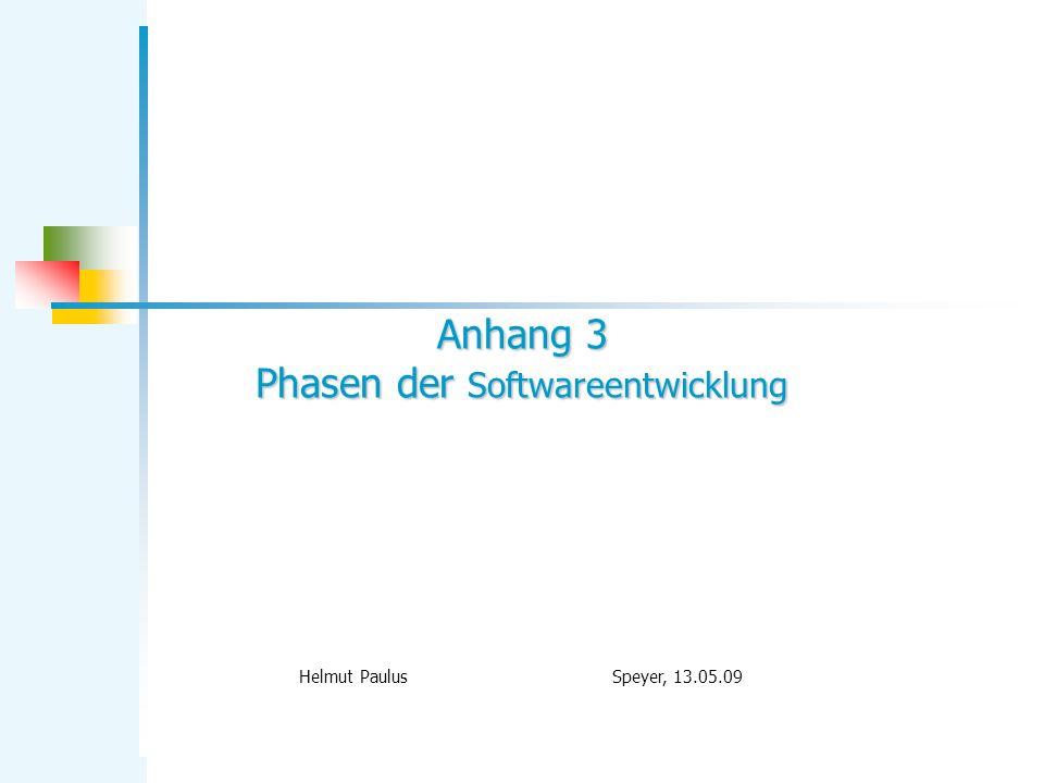 Anhang 3 Phasen der Softwareentwicklung
