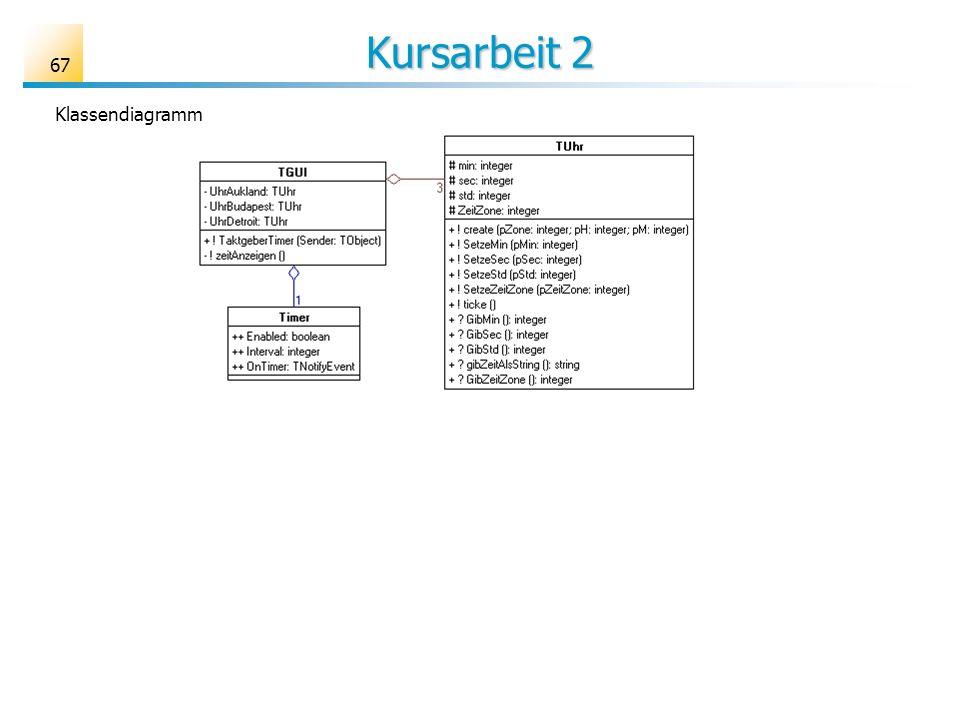 Kursarbeit 2 Klassendiagramm