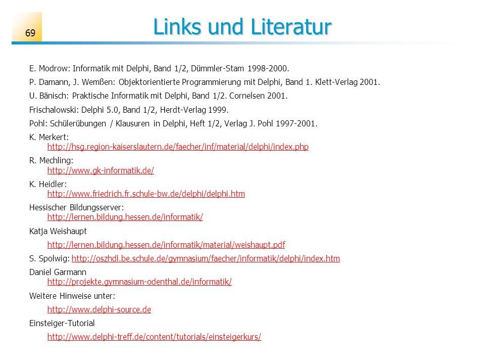 Links und Literatur