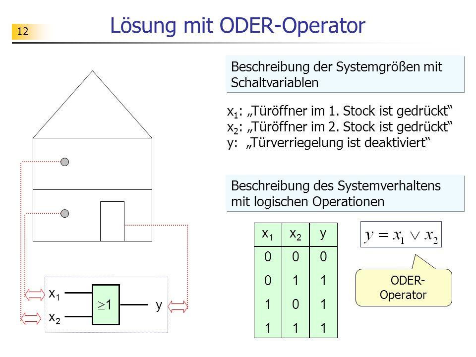 Lösung mit ODER-Operator