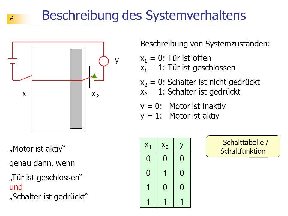 Beschreibung des Systemverhaltens
