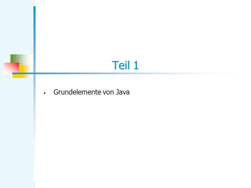 Grundelemente von Java
