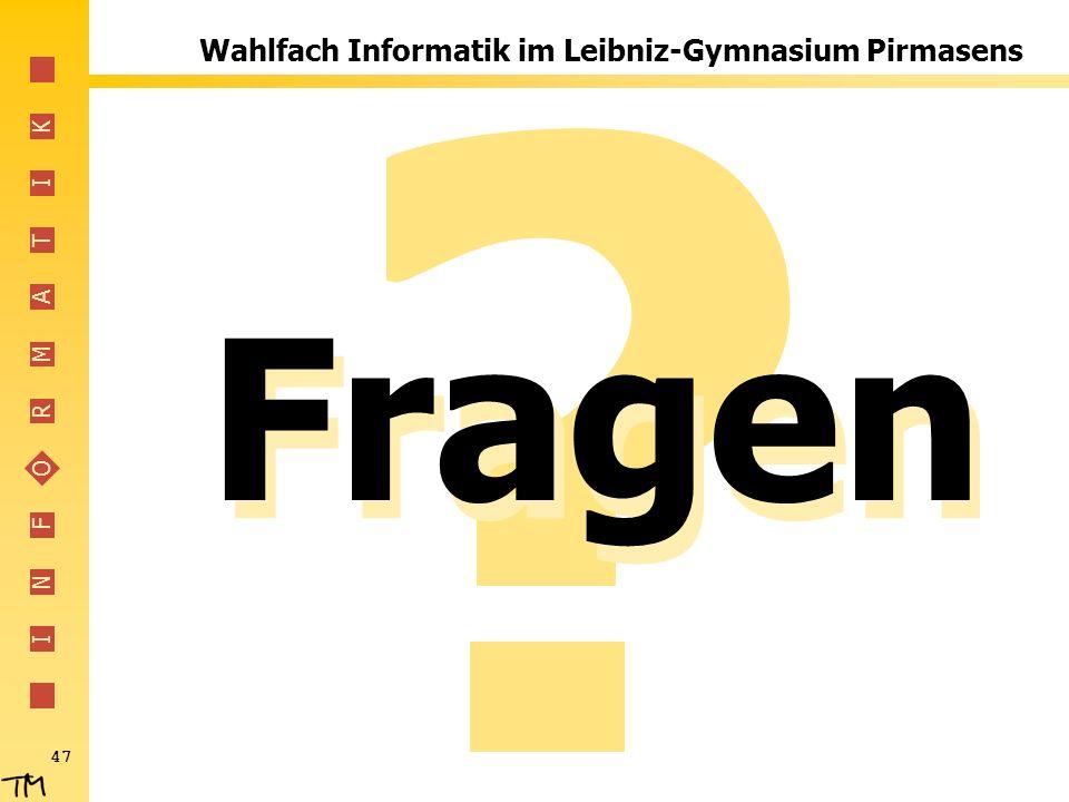 Wahlfach Informatik im Leibniz-Gymnasium Pirmasens