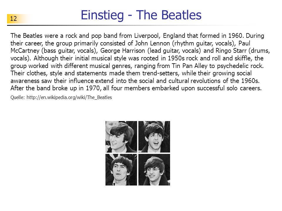 Einstieg - The Beatles
