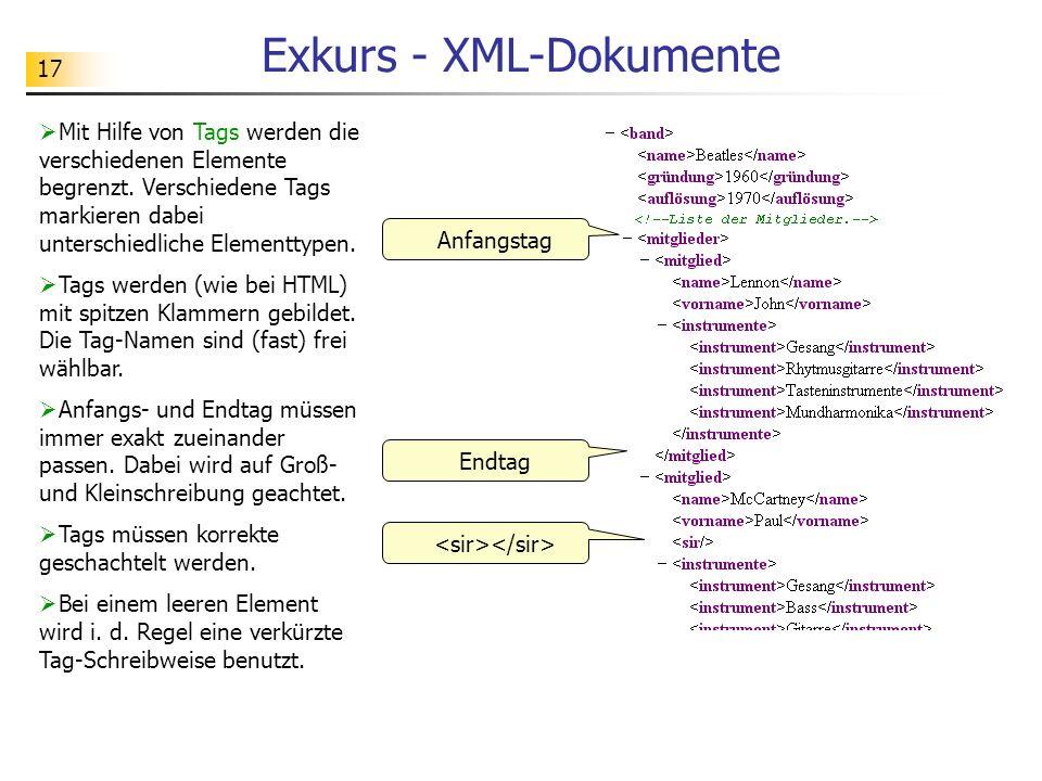 Exkurs - XML-Dokumente