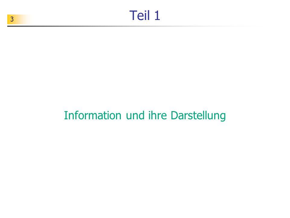 Information und ihre Darstellung