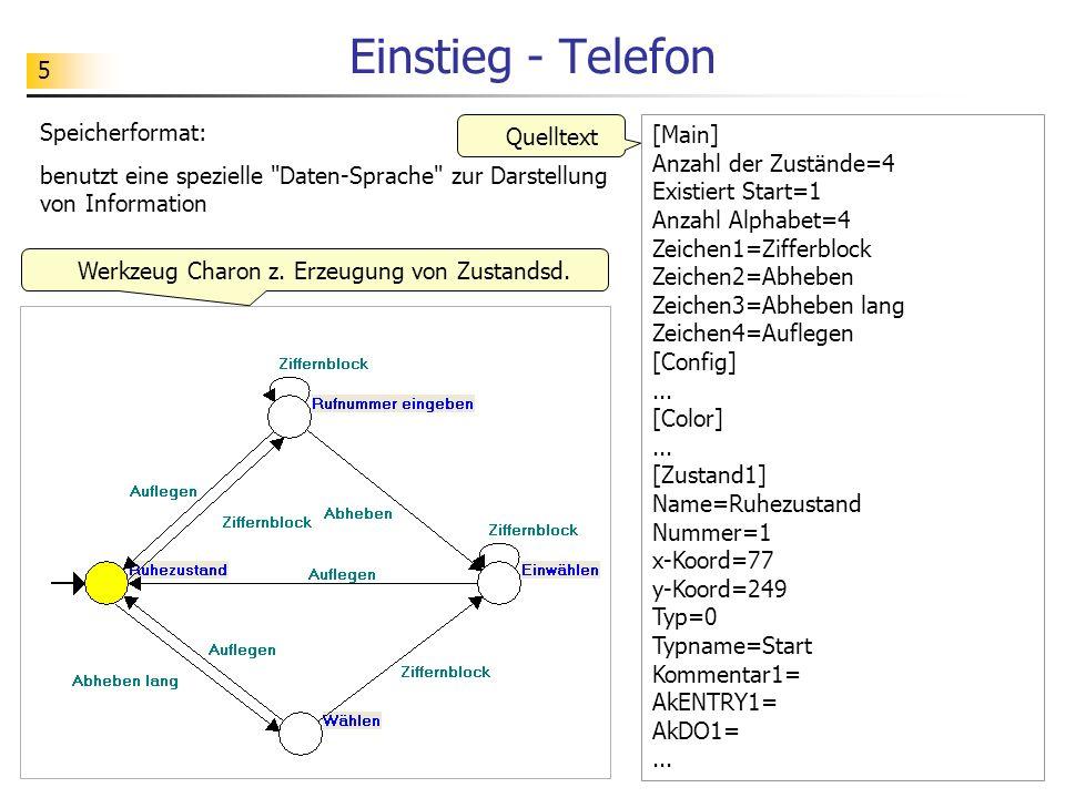 Werkzeug Charon z. Erzeugung von Zustandsd.