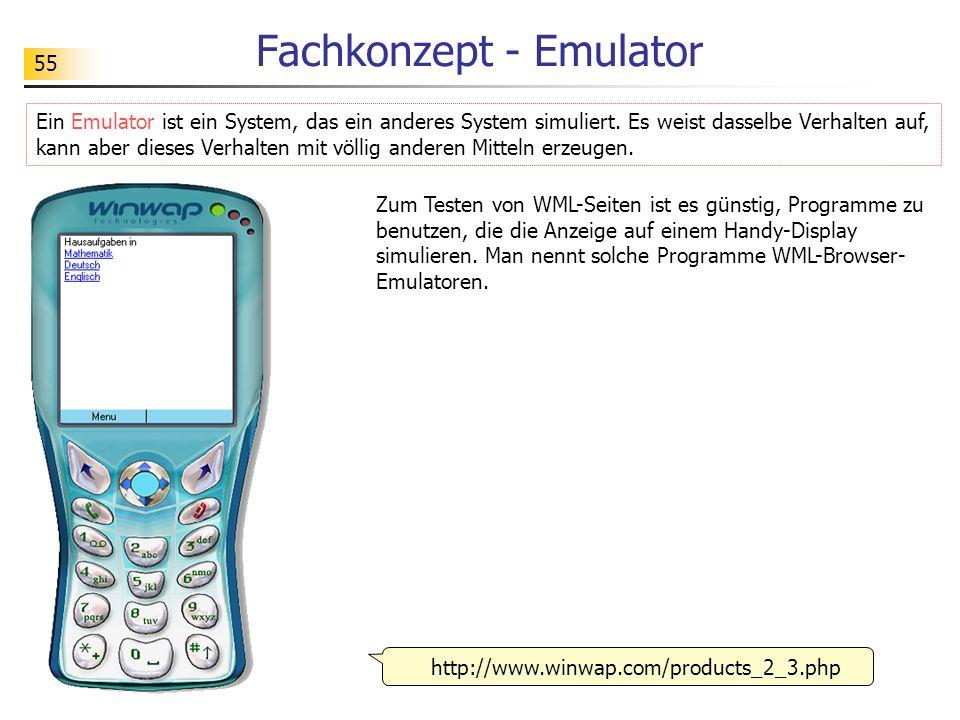 Fachkonzept - Emulator