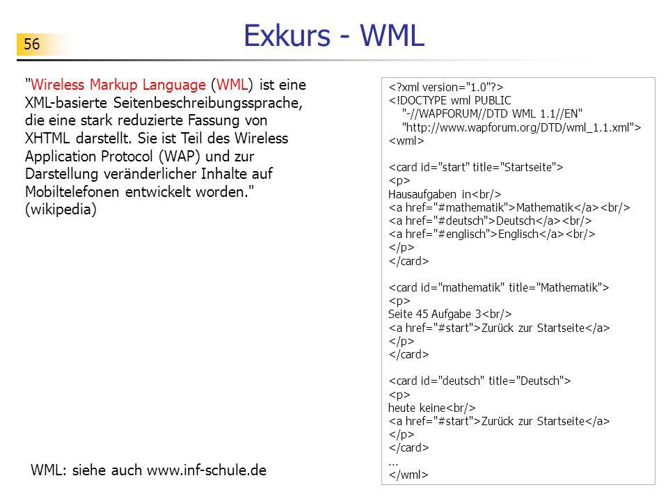 Exkurs - WML