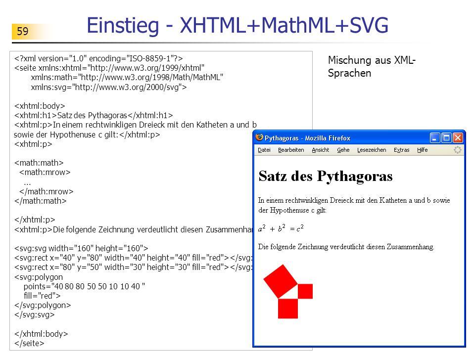 Einstieg - XHTML+MathML+SVG