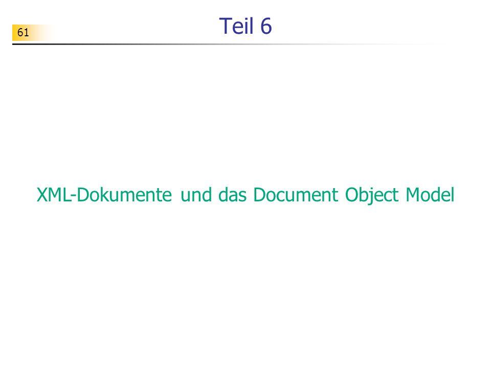 XML-Dokumente und das Document Object Model