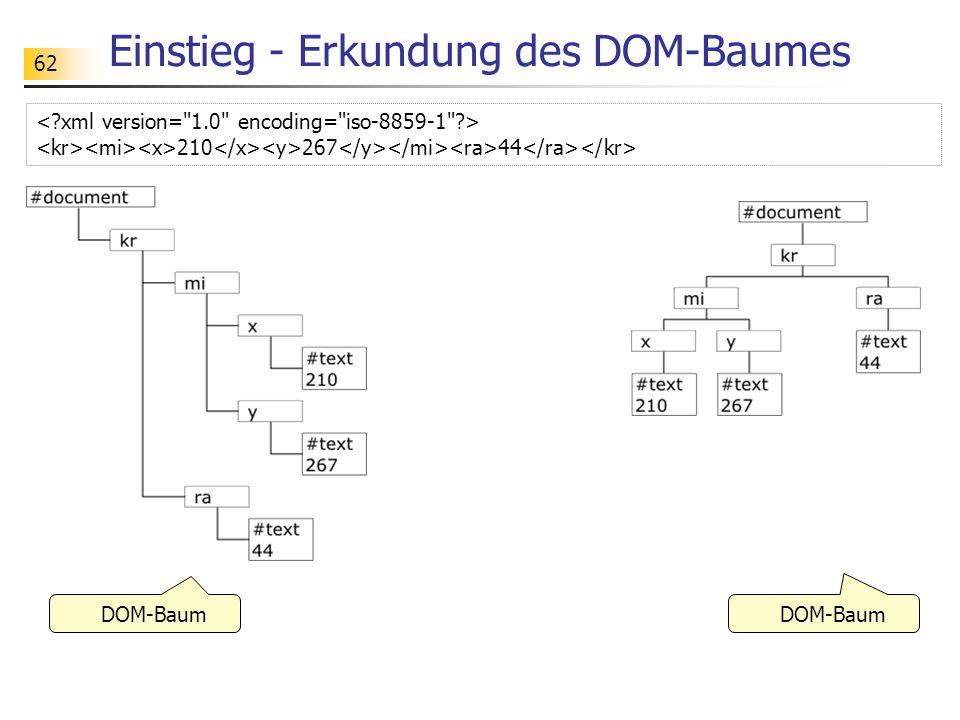 Einstieg - Erkundung des DOM-Baumes