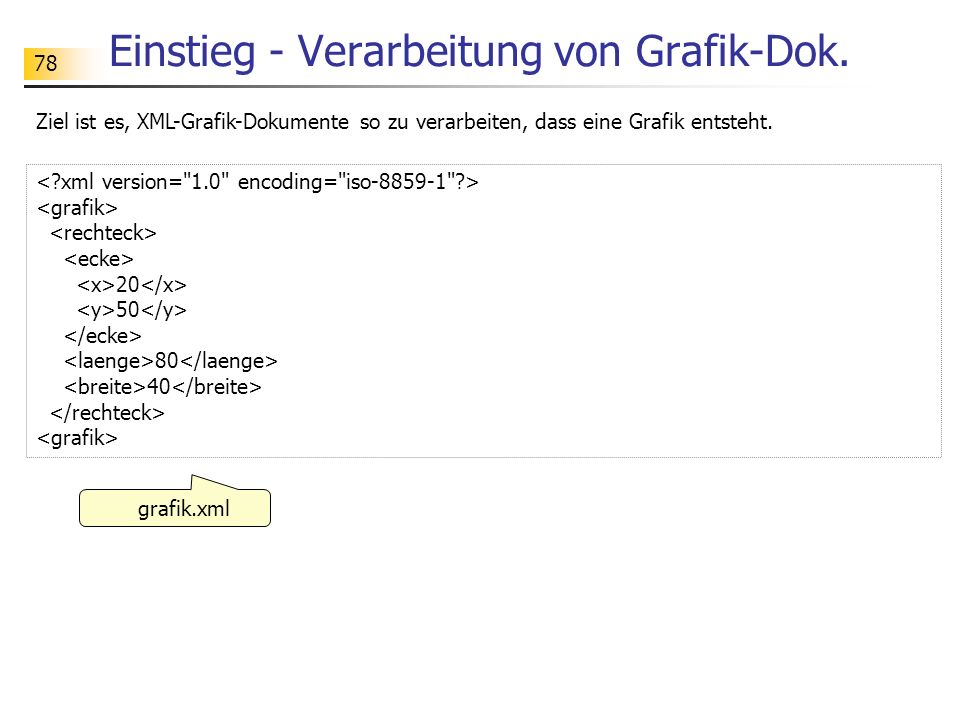 Einstieg - Verarbeitung von Grafik-Dok.
