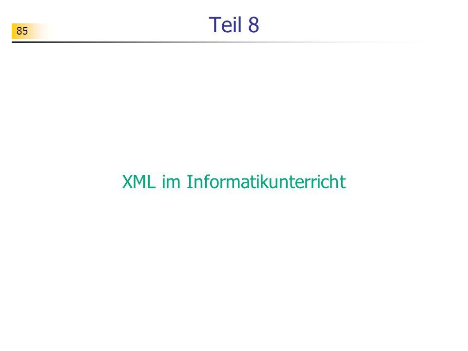 XML im Informatikunterricht