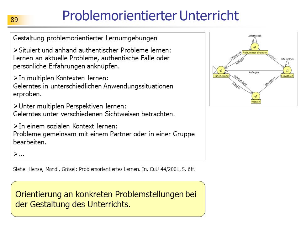 Problemorientierter Unterricht