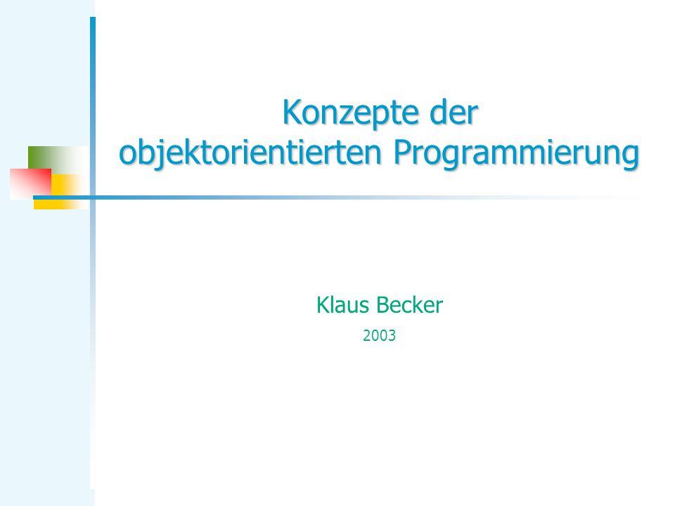 Konzepte der objektorientierten Programmierung
