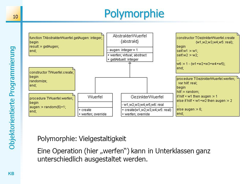 Polymorphie Polymorphie: Vielgestaltigkeit