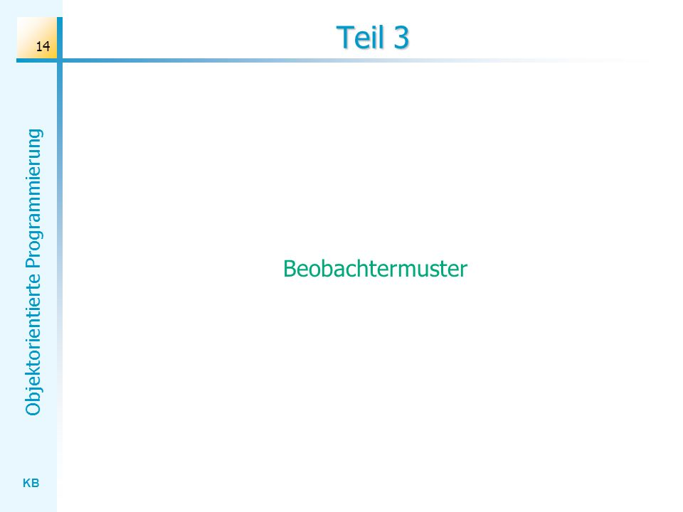 Teil 3 Beobachtermuster